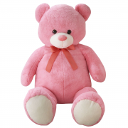 Giant Bear With Ribbon 100cm Pink