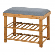 Bamboo Bench with Shoe Rack 60X29X45cm