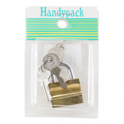 Brass Padlock Tri-Cricle 25mm Side Open 3325