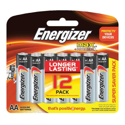 Alkaline Max Battery AA 12s