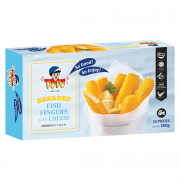 Breaded Fish Fingers With Cheese 16s 360g