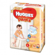 Gold Unisex Pants Diapers 44s L 9-14Kg