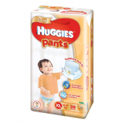 Gold Unisex Pants Diapers 38s XL 12-17Kg