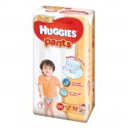Gold Unisex Pants Diapers 32s XXL 15-25Kg