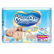 Extra Dry Skin Tape Diapers New Born 80s Up to 5kg