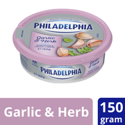 Philadelphia Cream Cheese Garlic & Herb 150g