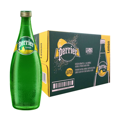 Lemon Flavoured Sparkling Natural Mineral Water 12sX750ml
